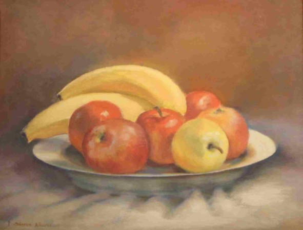 Dish of Fruit - Oil - 9 x 12 - Available