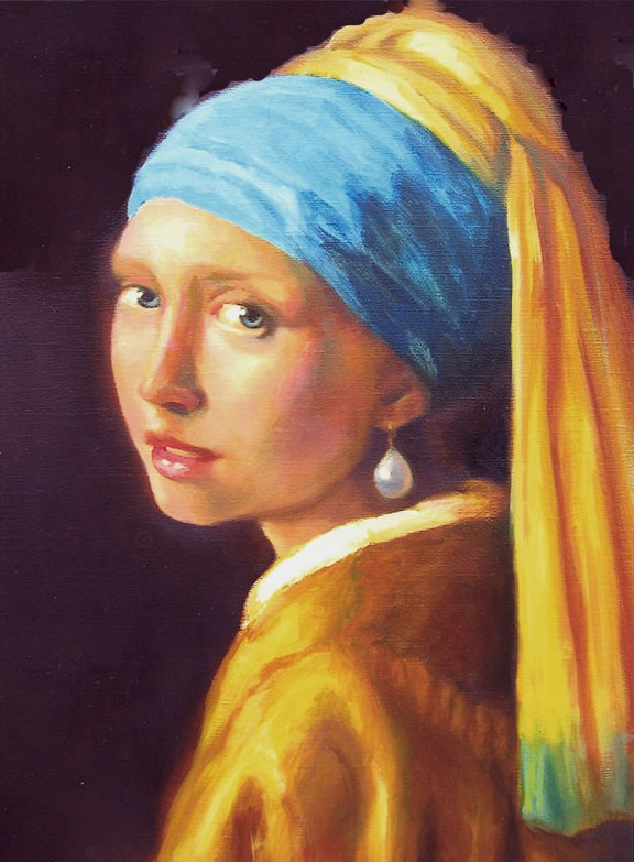 Girl-With-Pearl - Vermeer - Oil - Sold