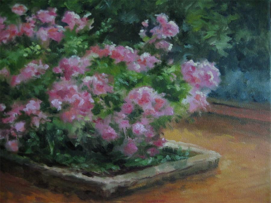 Kingwood Roses - Oil - 8 x 10 - Sold