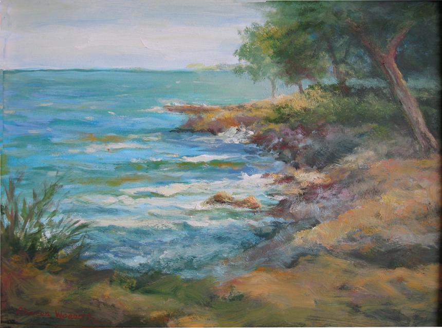 Lakeside Shoreline - Oil - 9 x 12 - Sold