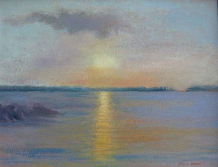 Lakeside Sunset - Oil - 11 x 14 - Available