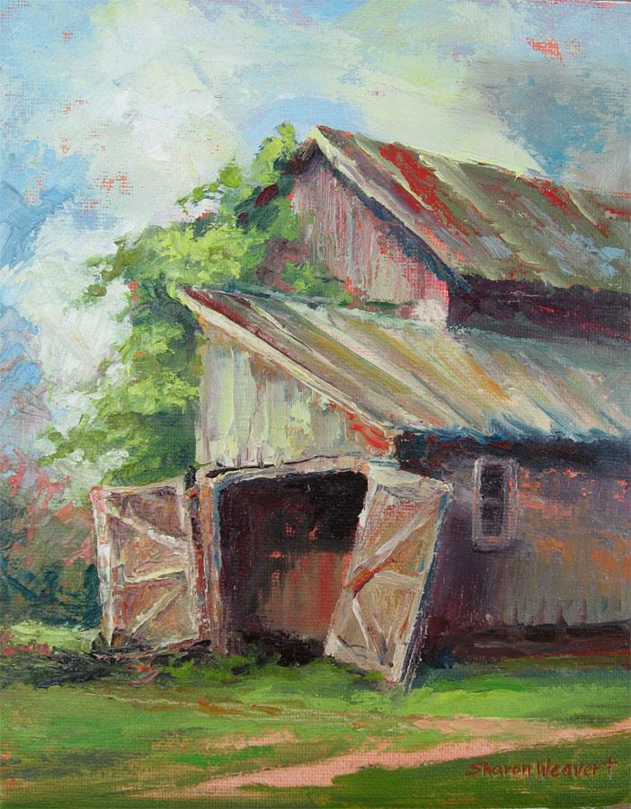 Pole Barn - Oil - 8 x 10 - Available