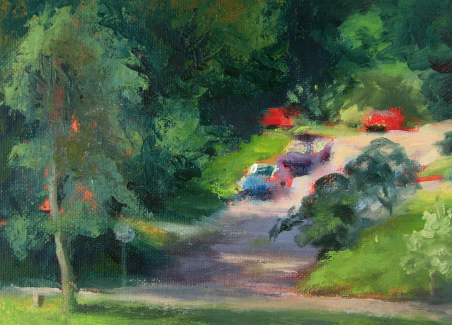 North Lake Park - Oil - 8 x 10 - Available