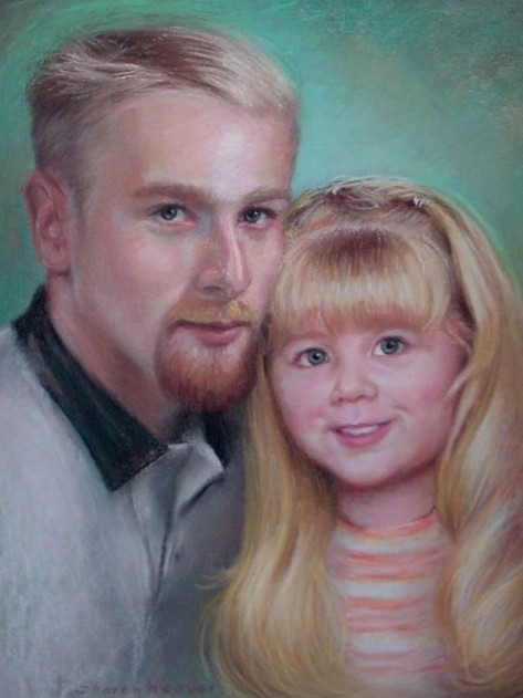 Father & Daughter - Pastel