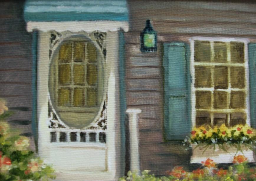 Cottage Door - Oil - 5 x 7 - Sold
