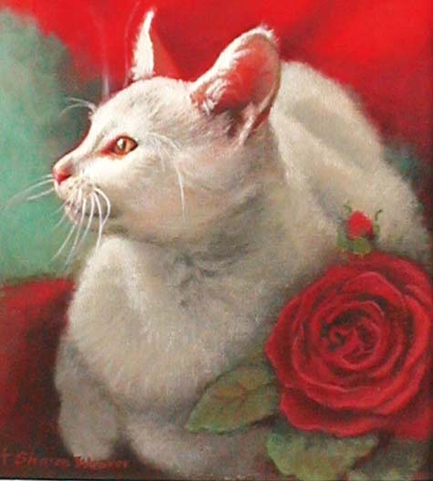 White Cat - Acrylic - 8 x 10 - Available