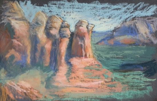 Coffee Pot Rock - 9 X 12 - Pastel
